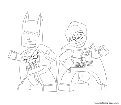 Batman And Robin Lego Coloring Pages Print Download