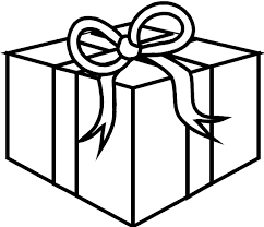 Christmas Presents Coloring Pages Gift Box