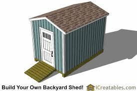 8x12 Storage Shed Blueprints by 8x12 Backyard Shed Plans Tall Shed Plans Storage Shed Plans