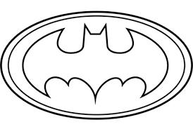 Click To See Printable Version Of Batman Logo Coloring Page