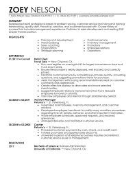 Customer Service Resume Template 2017 Unforgettable Shift Leader Trainee Examples To Stand Out Templates