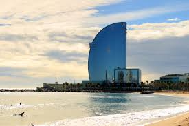 100 W Hotel In Barcelona Spain View Of Barceloneta Beach And Hotel In GrowBoatio