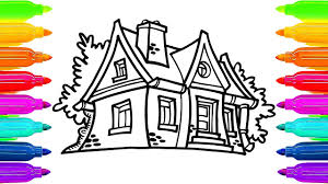 Fairy House Coloring Book For Kids How To Paint
