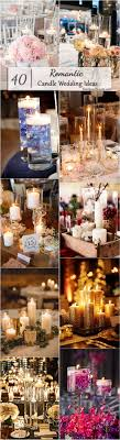 Romantic Candle Wedding Centerpiece Ideas