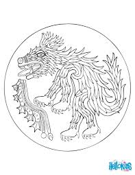 GREEK GODS AND CREATURES Sliding Puzzles Coyote Spirit Coloring Page