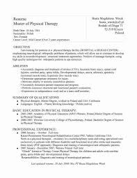 Physical Education Resume Template Awesome Therapist Examples Of Resumes Ph Large Size