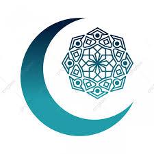 Media Luna Islámica De Diseño Con Mandala Crescent Luna