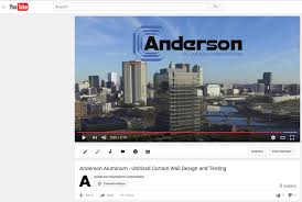 unitized curtain wall design testing video anderson aluminum