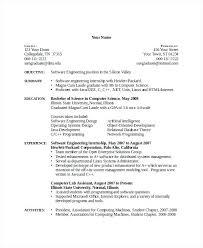 Sample Resume Computer Science Fresh Graduate For Fabulous Template Word