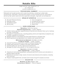 Secretary Resume Example Classic Full Good Samples