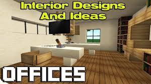 Good Minecraft Living Room Ideas by Minecraft Office Designs Youtube