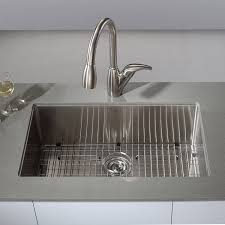 Stainless Steel Sink Grids Canada by Kraus Khu100 32 32 Inch Undermount Single Bowl 16 Gauge Stainless