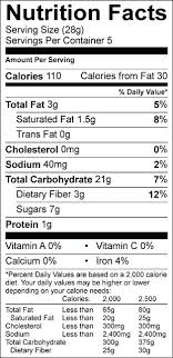 Granola Bar Nutrition Label Personalized Health Review For Great