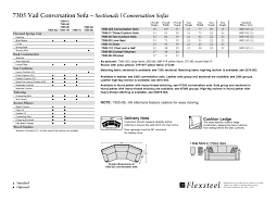 Flexsteel Vail Sofa Leather by Flexsteel 7305 Vail Conversation Sofa