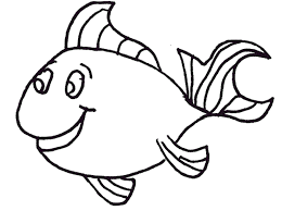 Small Fish With Big Eyes Coloring Picture For Kids