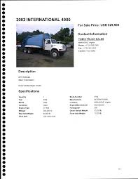 100 Used Truck Values Nada INVITITION FOR BID FOR 2002 International 4900 Refuse Collection