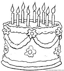 Free Printable Coloring Pages Birthday Cake Cakes Cupcakes