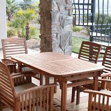 Amazon Prime Patio Chair Cushions by Amazon Com We Furniture Solid Acacia Wood 6 Piece Patio Dining