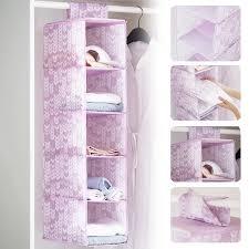 schlafzimmer waschbar regal veranstalter schrank hängende gedruckt ordentlich faltbare oxford tuch 5 schichten lagerung tasche durable kleidung
