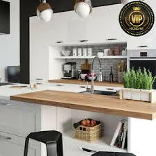 details zu moderne küche limba küchenzeile mit kochinsel und theke weiß holz meterpreis