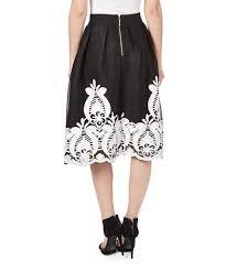 nancy yang white u0026 black battenberg lace a line skirt zulily