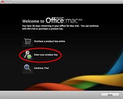 How to activate fice Mac 2011