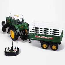 100 Toy Farm Trucks Line Control Small Tractor With Trailer Plastic 4