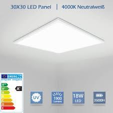 oubo led panel 30x30cm kaltweiß 6000k 1900 lumen weißrahmen