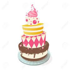 Vector illustration of a birthday cake Stock Vector