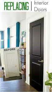 Home Interior Doors Replacing My Interior Doors And Painting Them Black