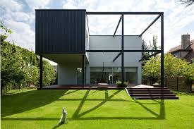 100 Cube House Design Black KameleonLab ArchDaily