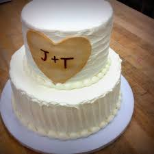 Rustic Party Cake With Fondant Heart
