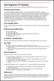 Gas Engineer Cv Sample Myperfectcv Rh Co Uk General Resume Samples Professional