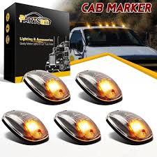 5) Clear Amber 264146cl LED CAB Roof Marker Lights For SUV Truck ... Boreman Led Marker Lights V112 130x Ats For Mod 2pcs 6 Clearance Side Marker Light Indicator Lamp Truck Trailer Gmc Chevrolet Pickup 4 Piece Set Park Signal Marker Lights Youtube Cab Yellow Trucklite 9057a Rectangular Signalstat Replacement Lens Cheap Find Deals On Line At Atomic Professional Series Roof Strobe Kit Lights Led 2009 2014 F150 Front Llights F150ledscom 2x Side Red Trailer Clearance Lamps 12v 24v Chrome