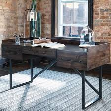 The Starmore Writing Desk From Ashley Furniture Is A Dream Piece For Anyone With Taste Rustic Industrial Style Made Wood In An Oiled Walnut