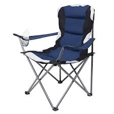 Internet's Best Padded Camping Folding Chair (Outdoor Navy ...