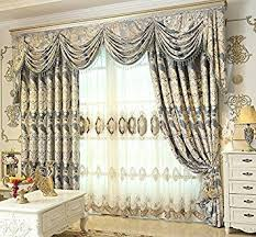 Blackout Curtain Liner Amazon by Amazon Com Fadfay Custom Made European Luxury Curtains Jacquard