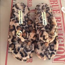 michael kors michael kors leopard house slippers from shar s