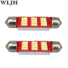 2x canbus car l bulbs light 4014 smd led 36mm c5w registration
