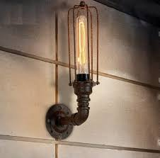 loft style iron water pipe l edison wall sconce retro wall