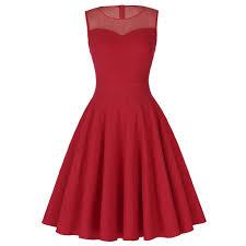 popular red retro dress 50s buy cheap red retro dress 50s lots