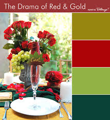Red Dark Chartreuse Hunter Green And Gold Palette