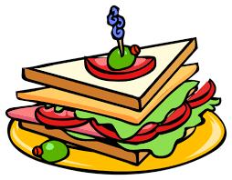 60 Ham Sandwich Clipart