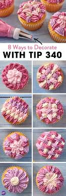 Learn 8 Ways To Decorate Cupcakes With Tip Often Used Pipe Ruffles And Zig Zags Ruffle Decorating 340 Is A Great Use For Piping Borders