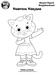 Daniel Tiger Coloring Pages Birthday Party PBS Parents