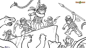 LEGO Ninjago Coloring Page NRG Ninjas VS Snakes Printable Color Sheet