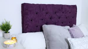 Cheap Upholstered Headboard Diy by Diy Tufted Headboard Youtube