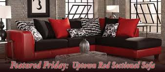 featured friday uptown red sectional sofa american freight