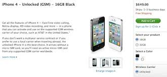 Unlocked iPhone 4 Now for Sale in USA