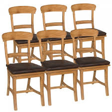 esszimmer stühle set tanja 6 stück mit holzsitzfläche teakholz gebürstet unbehandelt